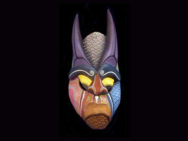 animal skins traditional mini-mask Boruca, Costa Rica