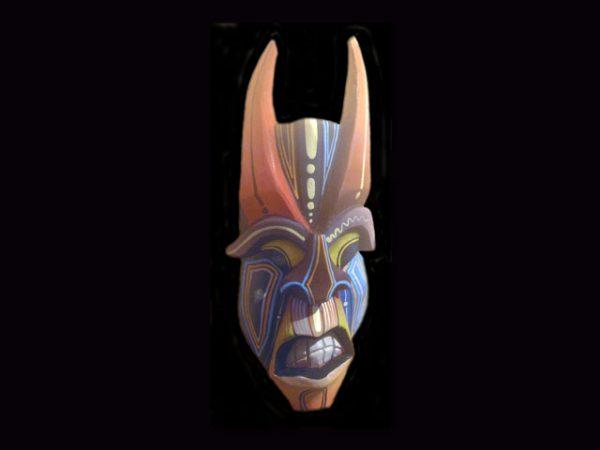 small Brunka 'diablo' mask, Costa Rica