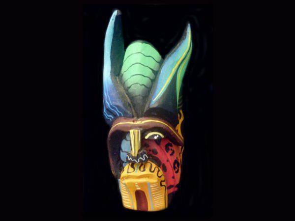 traditional mini 'diablo' mask Boruca Costa Rica