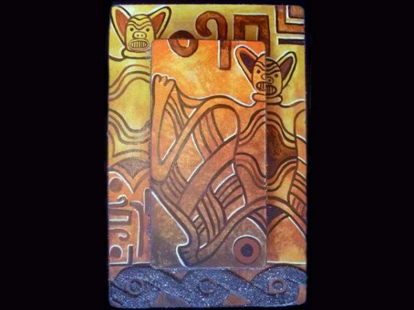 pre-hispanic bat theme