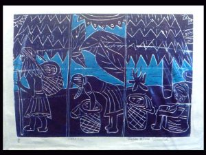 limited edition woodcut print Terraba tibe Costa Rica