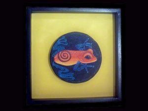 blue jean poison dart frog Brunka tribe Costa Rica