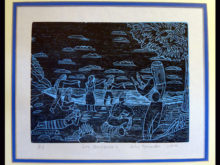 Brunka Woodcut Engraving BAW2