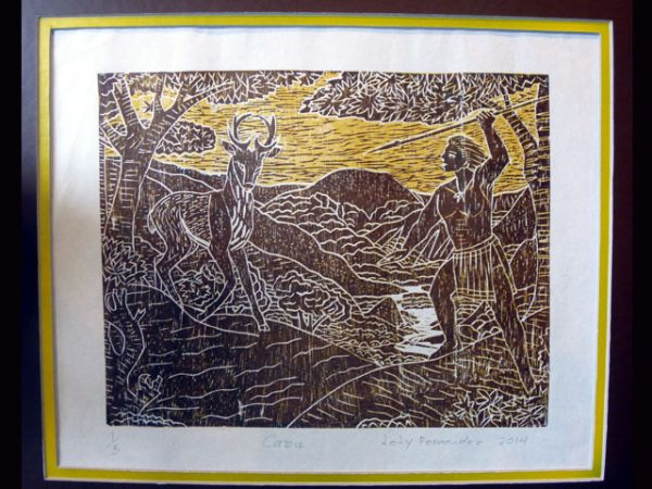 Brunka Woodcut Engraving BAW1