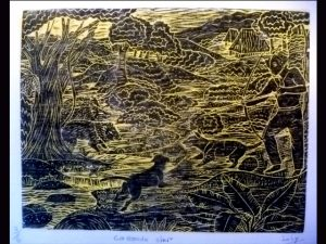 Brunka Woodcut Engraving BAW3