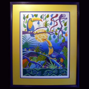 Painted Canvas Natural Scenes 001 (Folk Art Campos Painting 003)