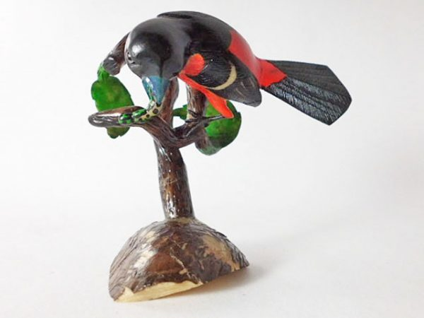Carved Tagua Bird 0004