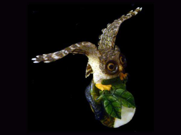 Carved Tagua Bird 0006